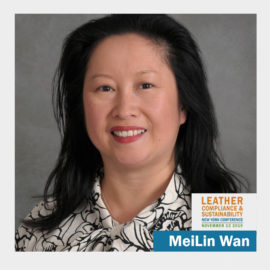 MeiLin Wan, DNA Traceability talk at Leather, Compliance & Sustainability Conference